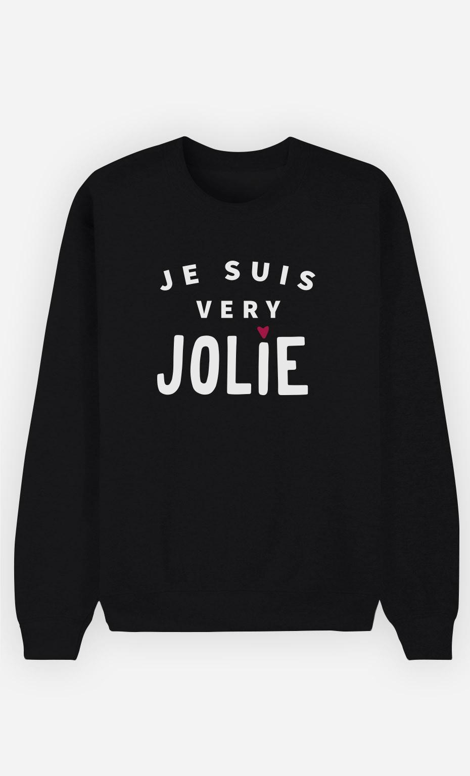 Sweat Noir Je suis Very Jolie