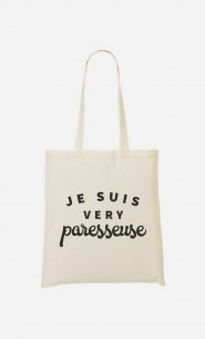 Tote Bag Je suis Very Paresseuse