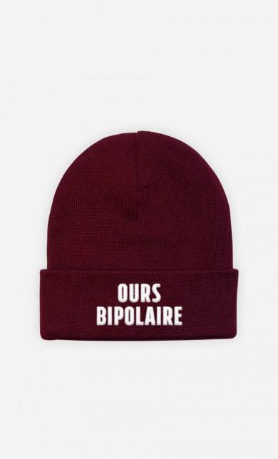 Bonnet Ours Bipolaire - brodé