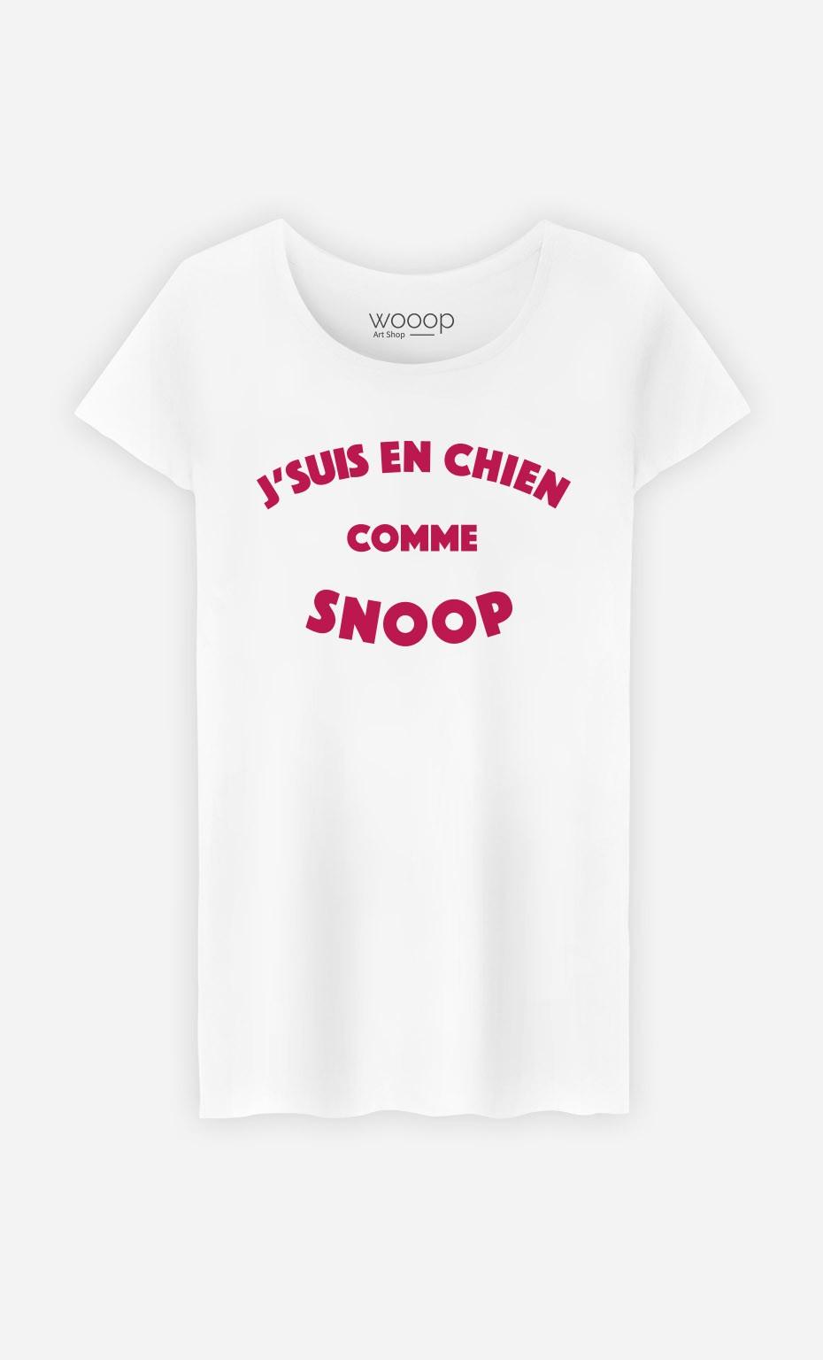 T-Shirt Femme J'suis en Chien comme Snoop