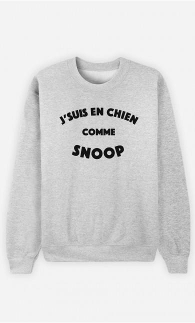 Sweat J'suis en Chien comme Snoop