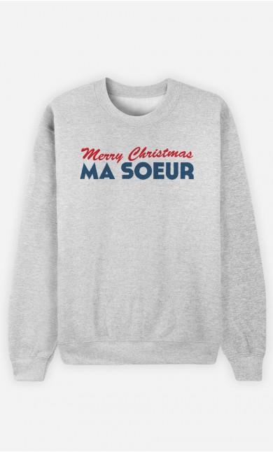 Sweat Merry Christmas ma Sœur