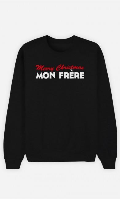 Sweat Noir Merry Christmas mon Frère