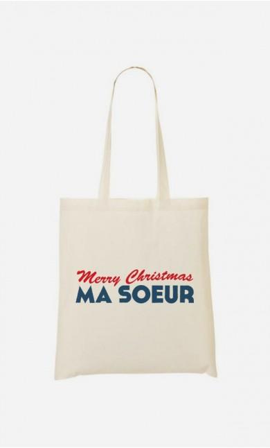 Tote Bag Merry Christmas ma Sœur