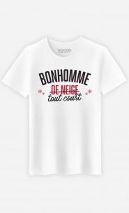 T-Shirt Homme Bonhomme de Neige Tout Court