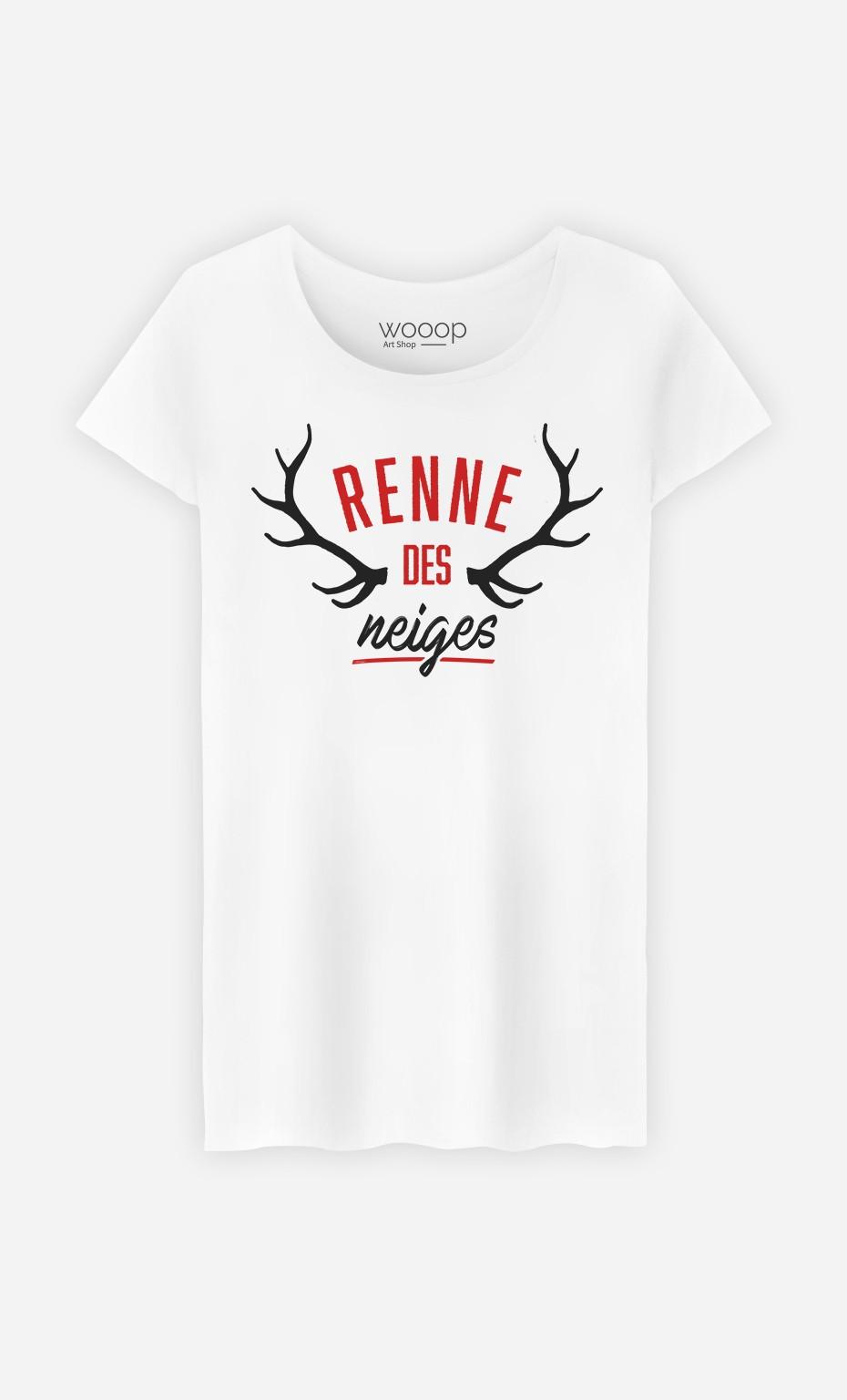 T-Shirt Femme Renne des Neiges