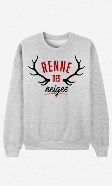 Sweat Femme Renne des Neiges