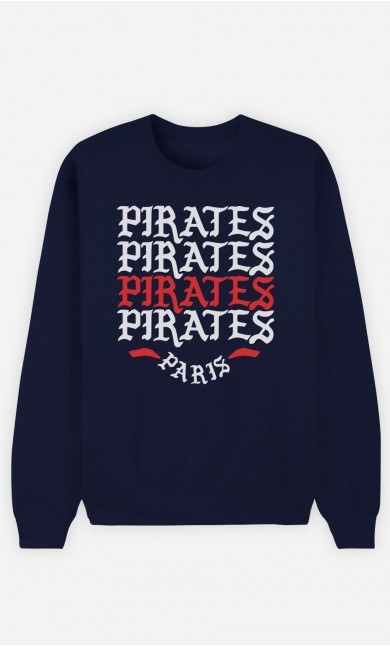 Sweat Bleu Pirates Paris