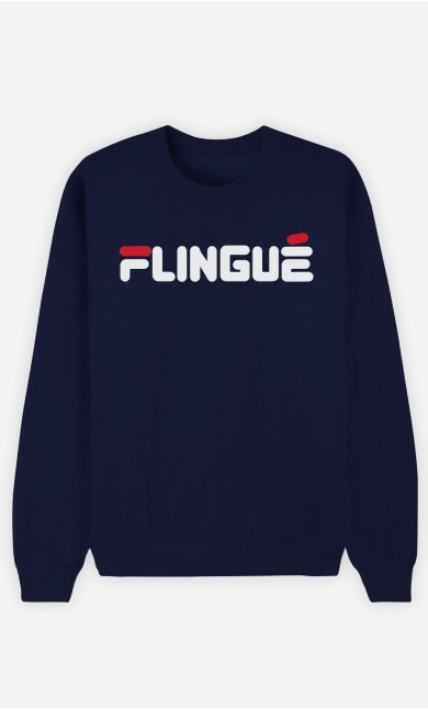 Sweat Bleu Flingué