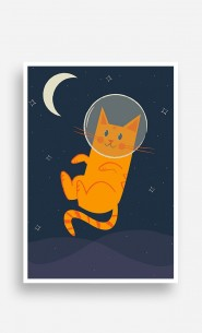 Poster Cat in Space