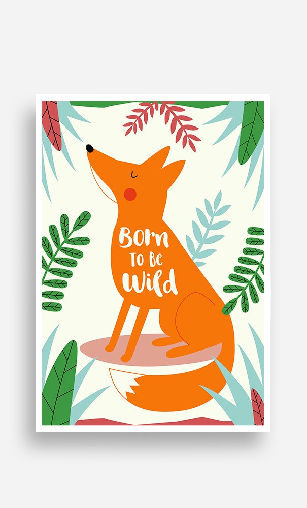 Poster Fox Born to be Wild