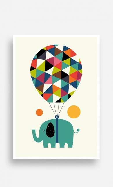 Poster Flying Elephant