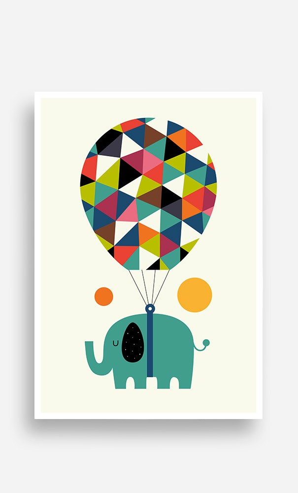 Poster Flying Elephant
