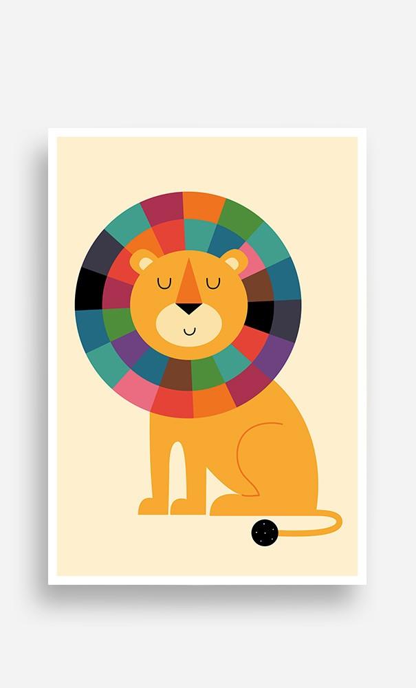 Poster Rainbow Lion