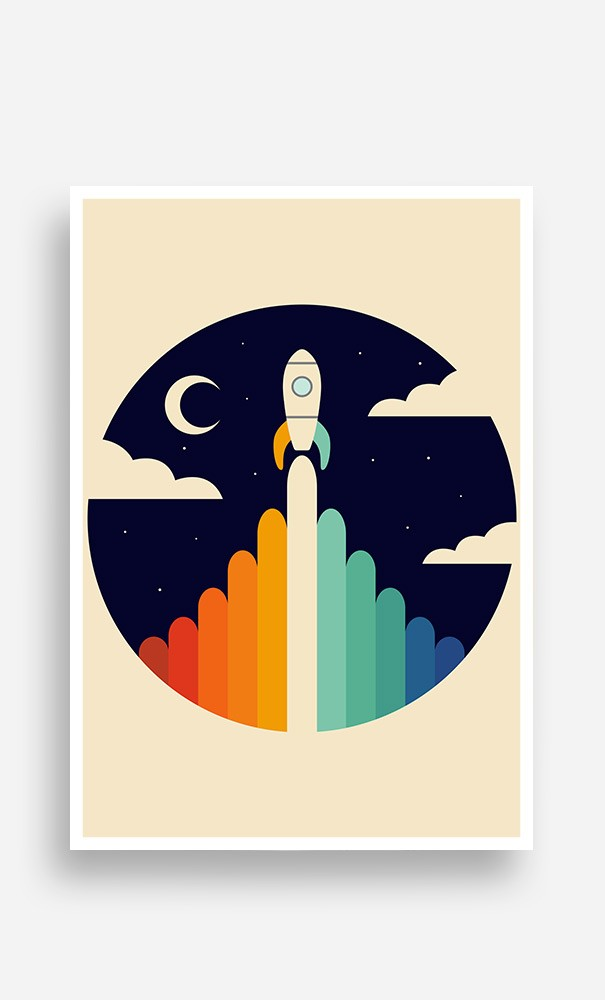 Poster Rainbow Space