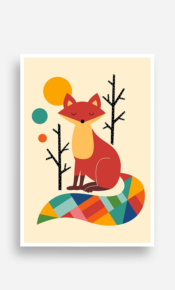Poster Ranbow Fox