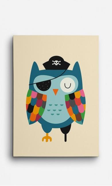 Toile Captain Owl