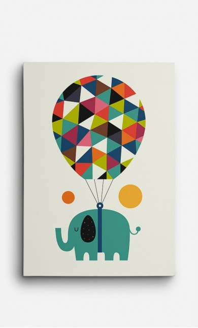 Toile Flying Elephant