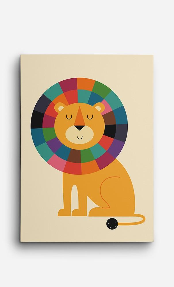 Toile Rainbow Lion