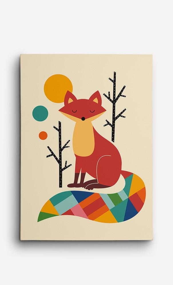 Toile Ranbow Fox