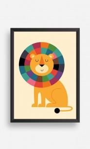 Cadre Rainbow Lion