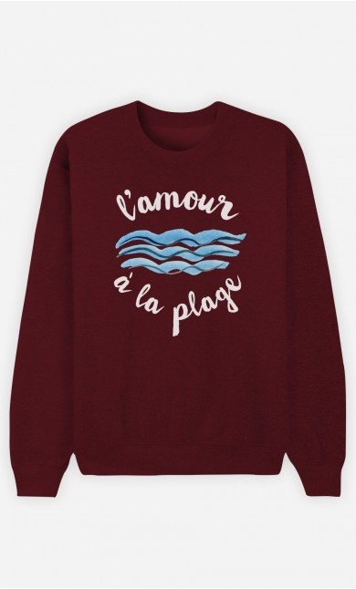 Sweat Bordeaux L'Amour à la Plage