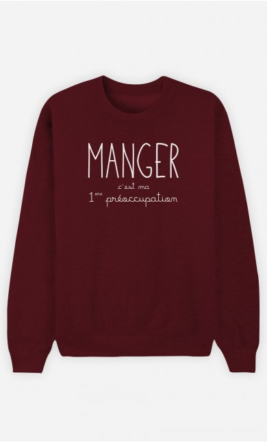 Sweat Bordeaux Manger