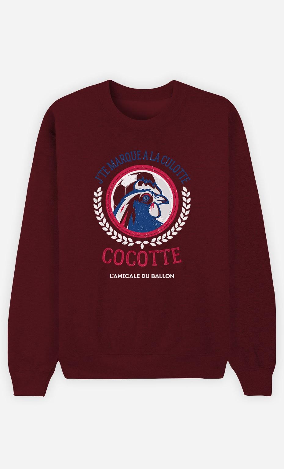 Sweat Bordeaux J'te Marque à la Culotte Cocotte
