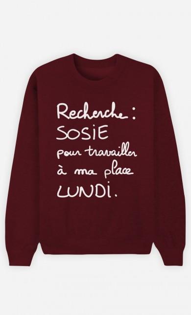 Sweat Bordeaux Recherche Sosie