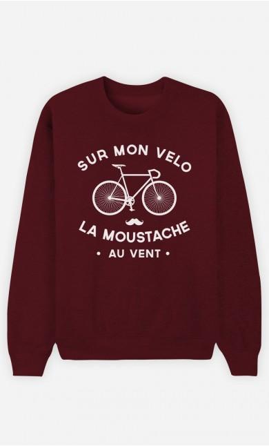 Sweat Bordeaux La Moustache Au Vent