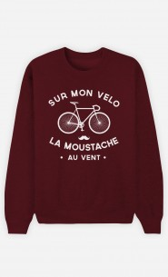 Sweat Homme La Moustache Au Vent