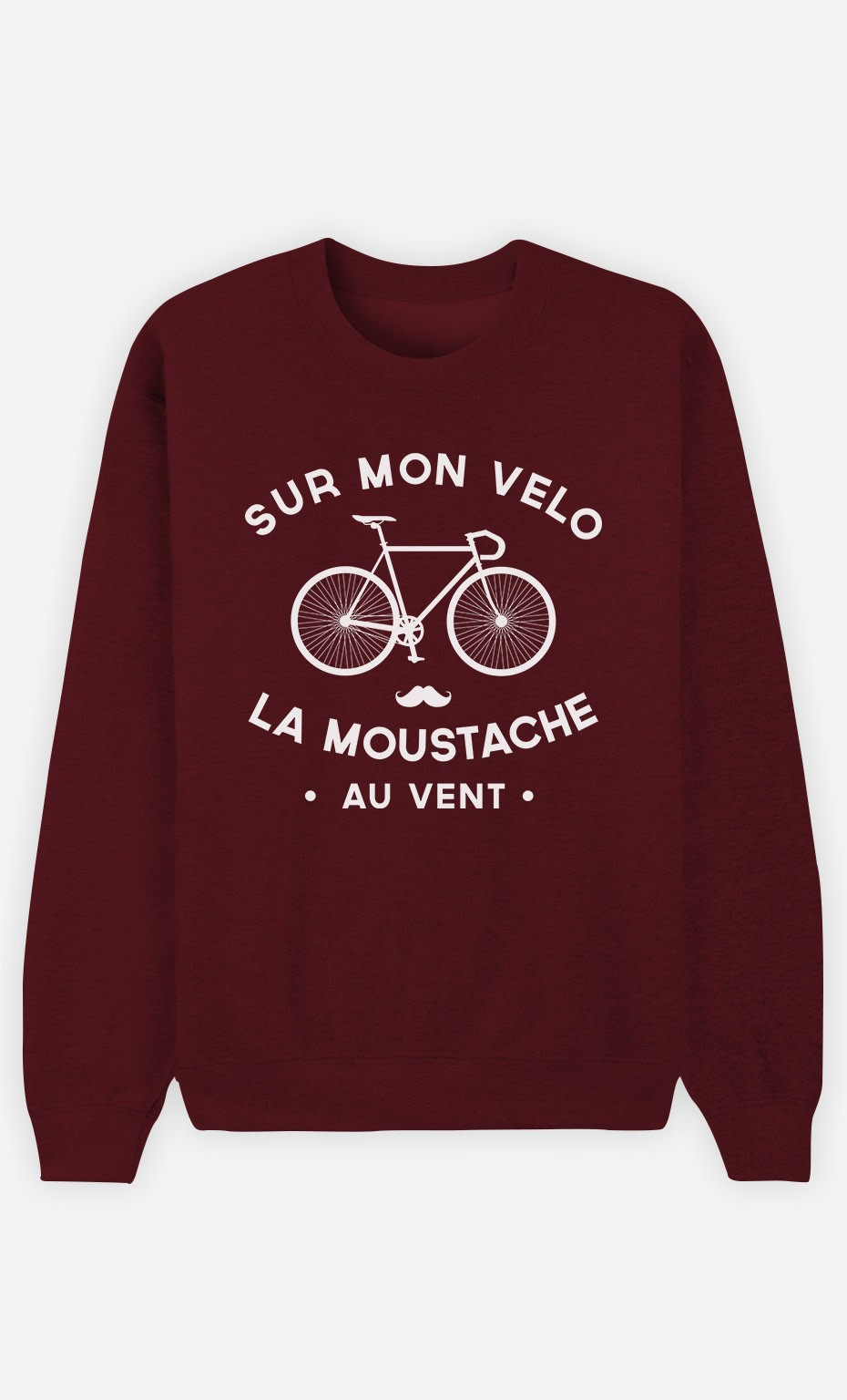 Sweat Bordeaux La Moustache Au Vent