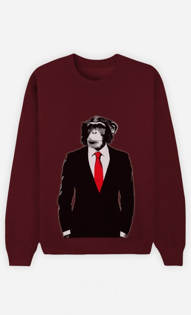 Burgundy Sweater Business Monkey