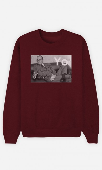 Burgundy Sweater Chirac Yo