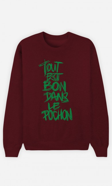 Burgundy Sweater Dans le Pochon