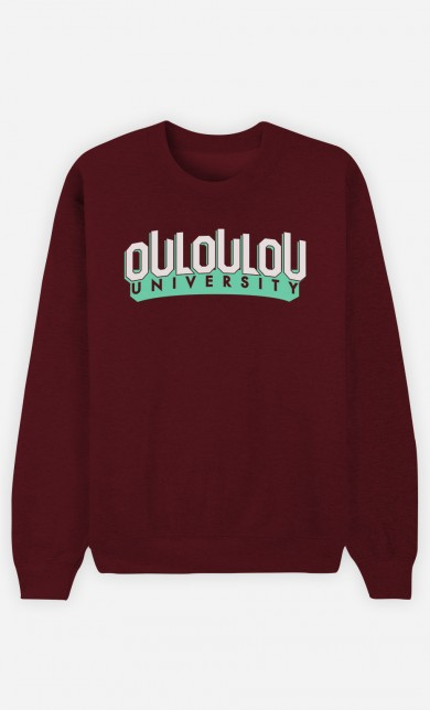 Burgundy Sweater Ouloulou University