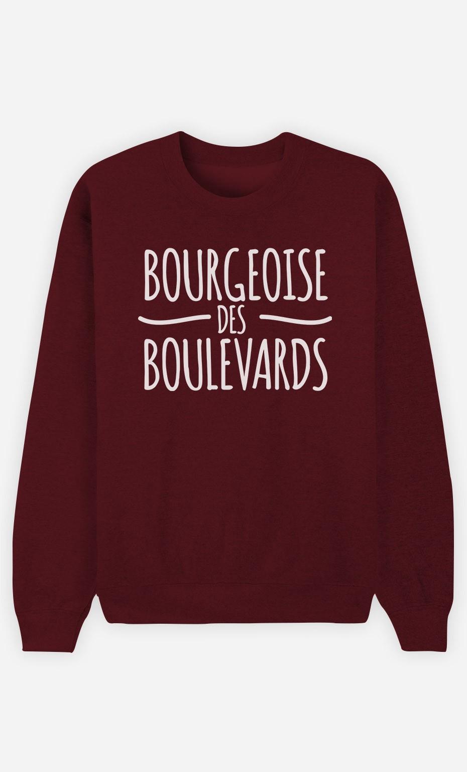 Sweat Bordeaux Bourgeoise des Boulevards