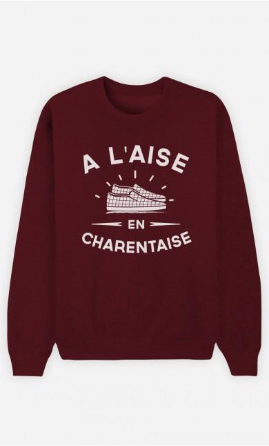 Sweat Bordeaux À L'Aise en Charentaise