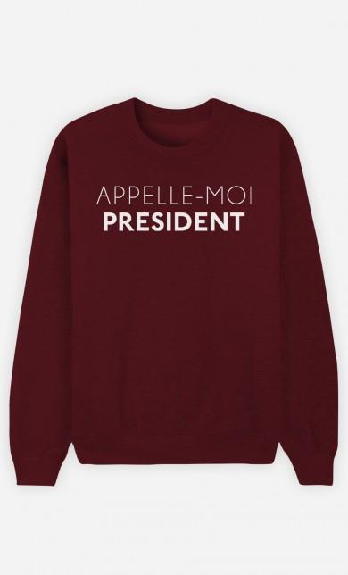 Burgundy Sweater Appelle-Moi Président