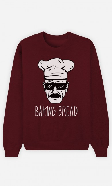 Burgundy Sweater Baking Bread