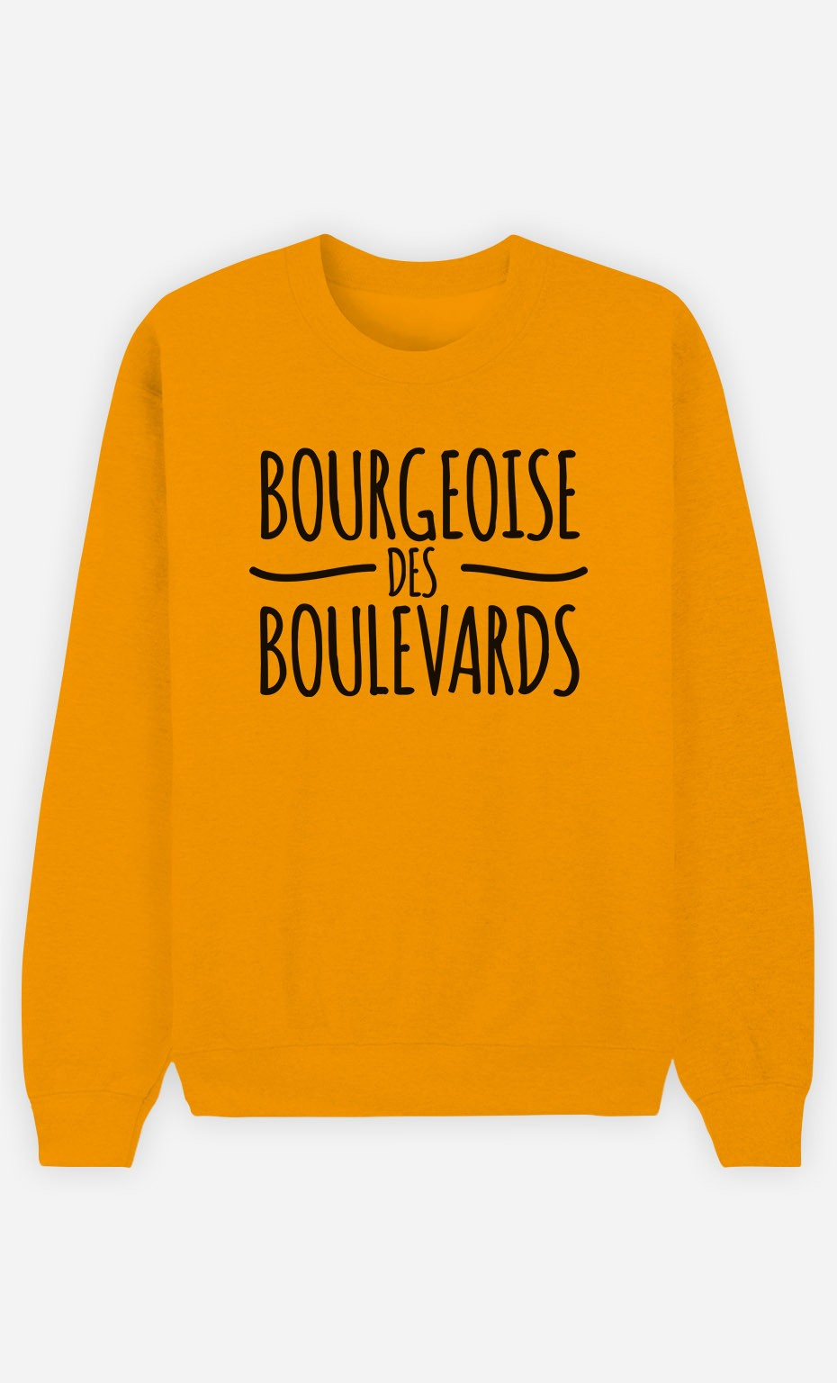 Sweat Moutarde Bourgeoise des Boulevards