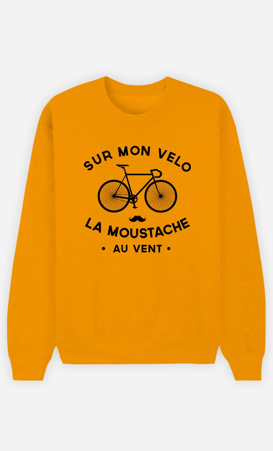 Sweat Moutarde La Moustache Au Vent