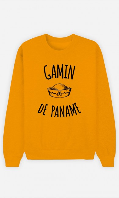 Sweat Moutarde Gamin de Paname