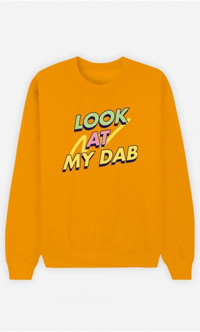 Sweat Moutarde Look at My Dab