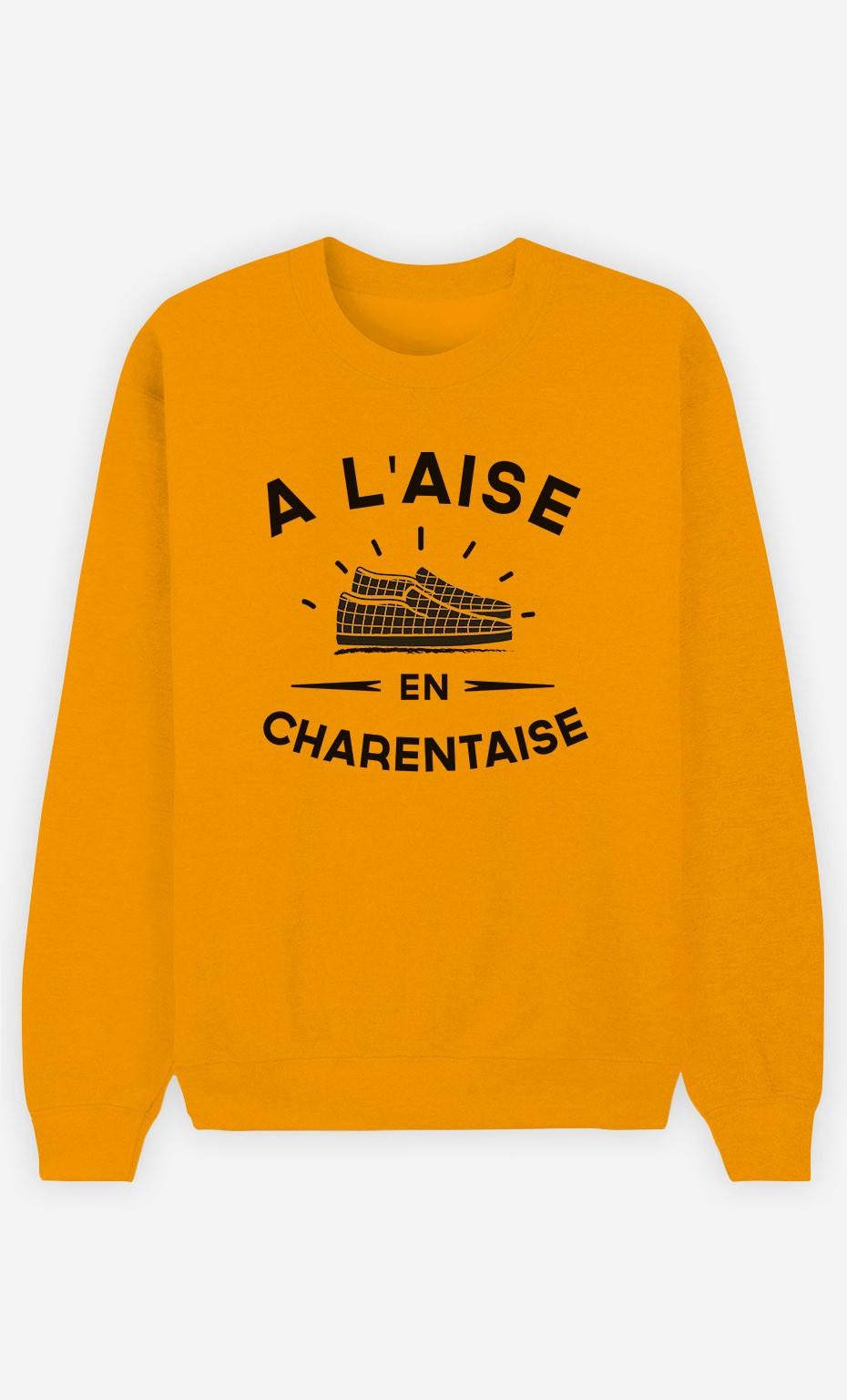 Sweat Moutarde À L'Aise en Charentaise