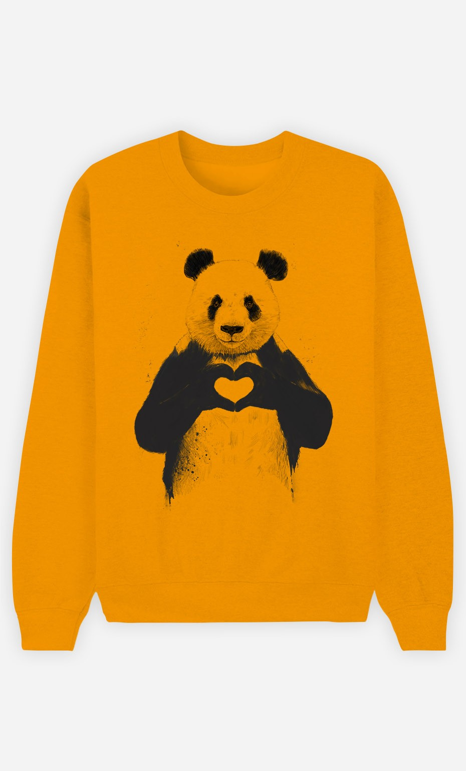 Sweat Moutarde Love Panda