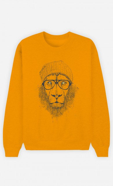 Yellow Sweater Cool Lion