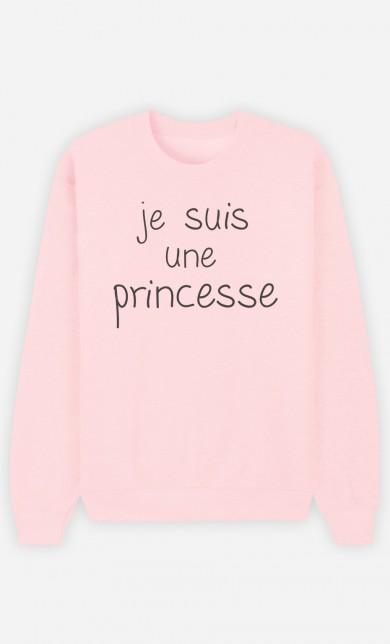Sweat Rose Je Suis Une Princesse