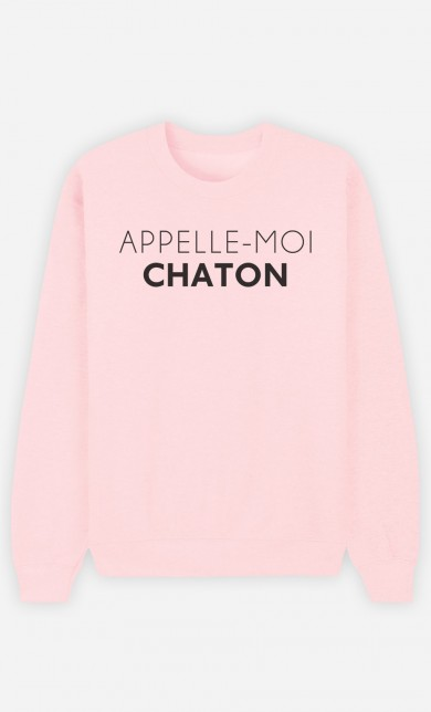 Sweat Rose Appelle-Moi Chaton