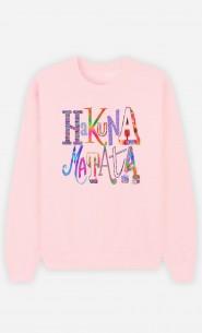 Sweat Femme Hakuna Matata Color